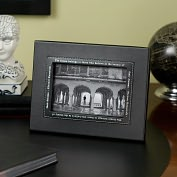 Product Image. Title: Black leather Quote Frame 4x6