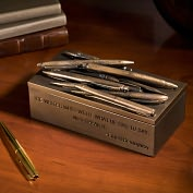 Product Image. Title: Hemingway Writer's Quotation Resin Pen Box