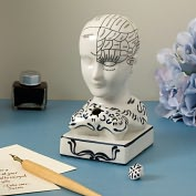 Product Image. Title: Phrenology Inkwell Desk Accessory