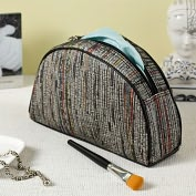 Product Image. Title: Recycled Loomed Newspaper Half Moon Accessory Case (9''x2.5''x5.5'')