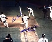 Product Image. Title: Autographed Mookie Wilson and Bill Buckner 8x10 Photograph