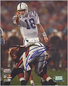 Product Image. Title: Indianapolis Colts, Autographed Peyton Manning Super Bowl XLI Audible Call 16X20 Photograph