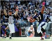 Product Image. Title: Baltimore Ravens, Autographed Ray Rice Touchdown Celebration Horizontal 8x10 Photograph