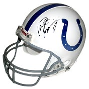 Product Image. Title: Indianapolis Colts, Autographed Peyton Manning Authentic Full Size Helmet