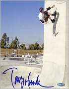 Product Image. Title: Autographed Tony Hawk Up The Wall 8x10 Photograph