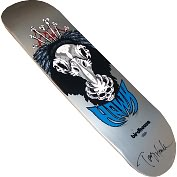 Product Image. Title: Autographed Tony Hawk Authentic Birdhouse Silver Vulture Skateboard Deck