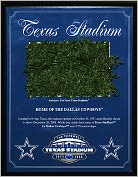 Product Image. Title: Dallas Cowboys, Texas Stadium Final Season 4x6 Plaque with Game Used Turf