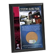 Product Image. Title: Philadelphia Phillies, Citizens Bank Park 4x6 Plaque with Game Used Dirt