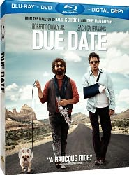 Due Date starring Robert Downey Jr.: Blu-ray Cover