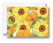 Product Image. Title: Painted Garden De La Vie Notes Set of 10