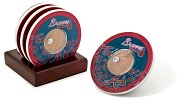 Product Image. Title: Atlanta Braves Coasters with Game Used Dirt - Set of 4