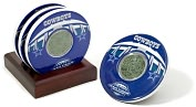 Product Image. Title: Dallas Cowboys, Texas Stadium Final Season Coasters with Gamed Used Turf - Set of 4
