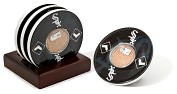 Product Image. Title: Chicago White Sox Coasters with Game Used Dirt - Set of 4