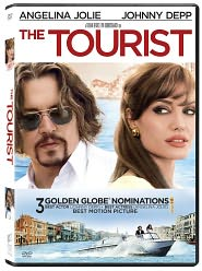 The Tourist starring Johnny Depp: DVD Cover