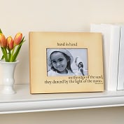 Product Image. Title: Hand in Hand Lear Quote 4x6 Photo Frame