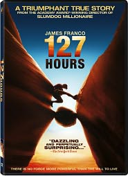 127 Hours starring James Franco: DVD Cover