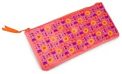 Product Image. Title: Jonathan Adler Bohemian Bliss Tulip & Sunflower Embroidered Pencil Pouch (4x9)
