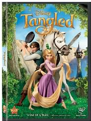 Tangled starring Mandy Moore: DVD Cover