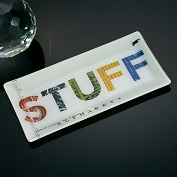 Product Image. Title: Stuff Glass Tray 9 x 4.5