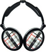Product Image. Title: Extreme Foldable Active Noise Canceling Headphones - Black Plaid
