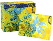 Product Image. Title: Temple Double Flower MementoBox Recycled Note Cards Set of 25
