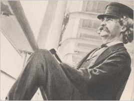 Twain on board ship