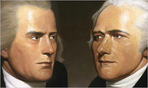 hamilton vs jefferson essay Shortly after the revolution, many drastic changes occures in the united states the political asepct of this perios of social adolescence was most spetacular alexander hamiltons,and thomas jeffersons contrasting political philosophies had one one thing in common they both created a strong government and society in.