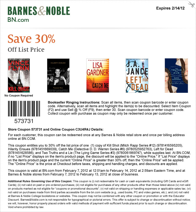 Barnesandnoble coupon code