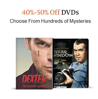 40%-50% Off DVDs  Choose From Hundreds of Mysteries