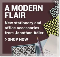 Modern Flair - New stationery and office accessories from Jonathan Adler - Shop Now