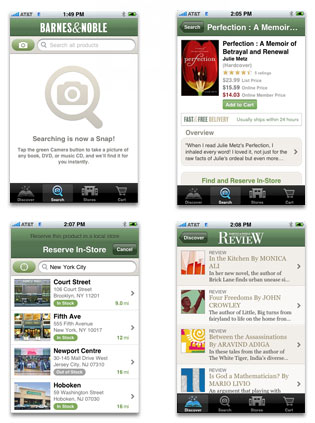 Bookstore App screenshots