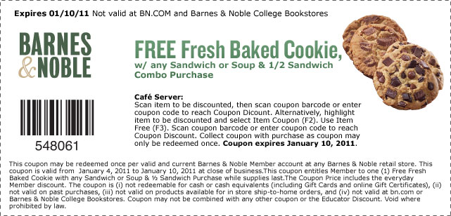 Barnes and noble sign up for coupons