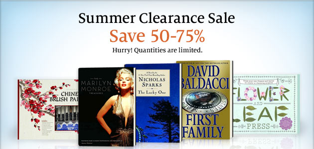 Summer Clearance Sale - Save 50-75%. Hurry! Quantities are limited.