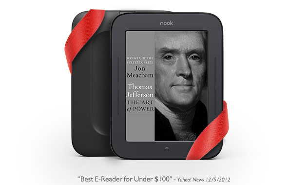 """Best E-Reader for Under $100"" - Yahoo News 12/5/2012"